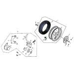 Rear Wheel - Aluminum Rim