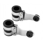 BikeMaster® Headlight 37 MM Brackets White