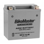 AGM Battery MS12-14L-BS BikeMaster