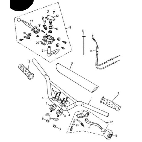 Handlebar (Bombardier Mini DS 50 2T)